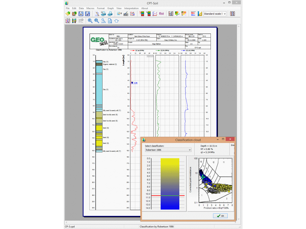 CPT-pro - Geotechnical software - :: GEOSOFT - geotechnical software